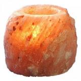 Подсвечник из Гималайской соли 500-700 г (разные цвета) подарочная коробка