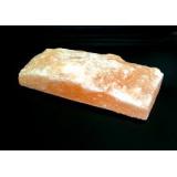Солевая плитка 2,5*10*20 одна сторона необработанная