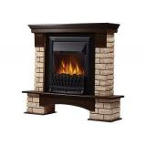 Портал Forte Wood Classic камень коричневый, шпон темный дуб