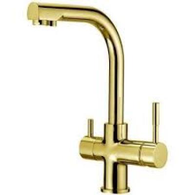 Кран комбинированный 2в1 Raifil NKD 0212 BG яркое золото - 1