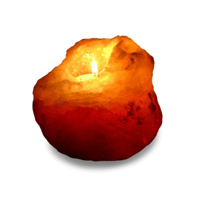 Подсвечник  из Гималайской соли УНИКАЛЬНЫЙ 800-1200 г - 1