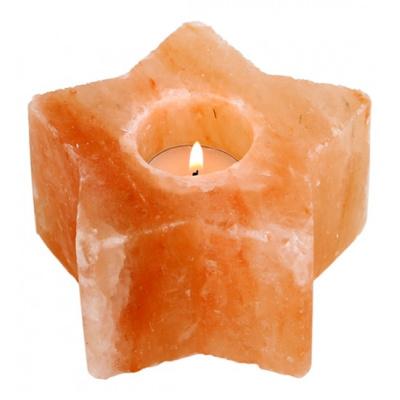 Подсвечник из Гималайской соли ЗВЕЗДА НАДЕЖДЫ 600-800 г - 1