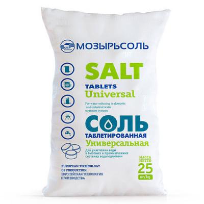 Соль таблетированная Экстра, мешок 25 кг - 1