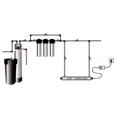 Установка обеззараживания воды SDE-016 - 16w, 1 Lamp TOPAQUA - 1