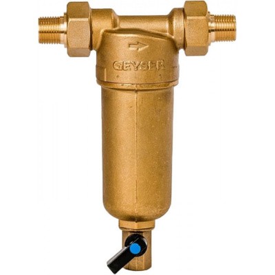 """Магистральный фильтр Гейзер Бастион 121 для холодной и горячей воды 3/4"""" - 1"""