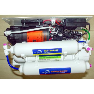 Система обратного осмоса Гейзер Аллегро ПМ с помпой и минерализатором (бак 12 л) - 1