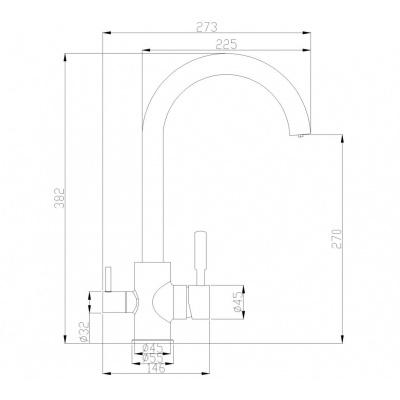 Кран комбинированный 2в1 STEEL HAMMER SH 713 CR - 1