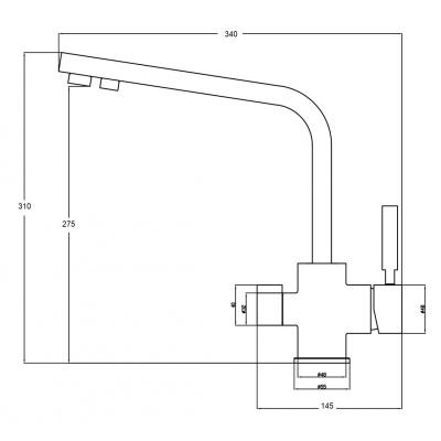 Кран комбинированный 2в1 STEEL HAMMER SH 909 SATIN - 1