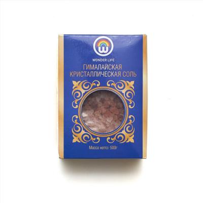 Пищевая роовая Гималайская гималайская соль ПАКИСТАН (0.5-1мм помол) в цветной коробке, 500 гр - 1