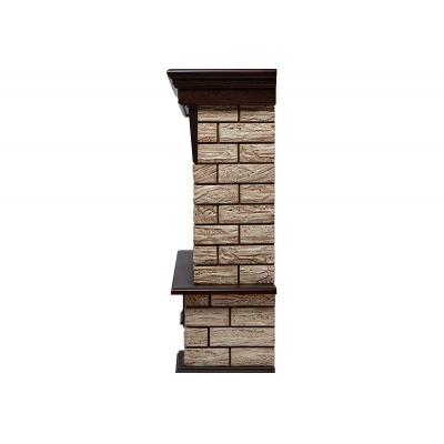 Портал Forte Wood Classic камень коричневый, шпон темный дуб - 1