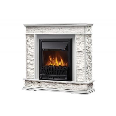 Портал Scala Classic камень сланец скалистый белый, шпон белый дуб - 1