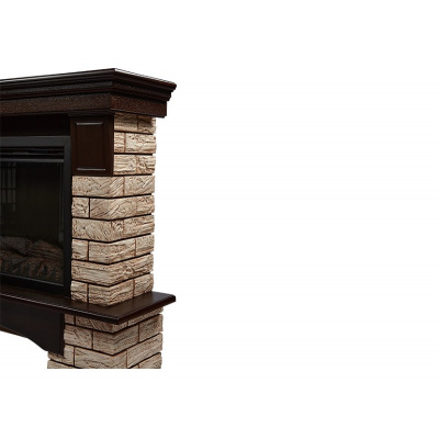 Портал Forte Wood 25 камень коричневый, шпон темный дуб - 1